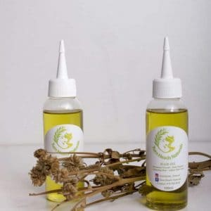 Organic blend hair oil by Turn Heads Naturals