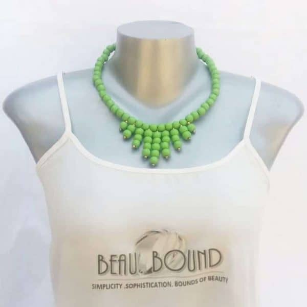 beaded necklace lime