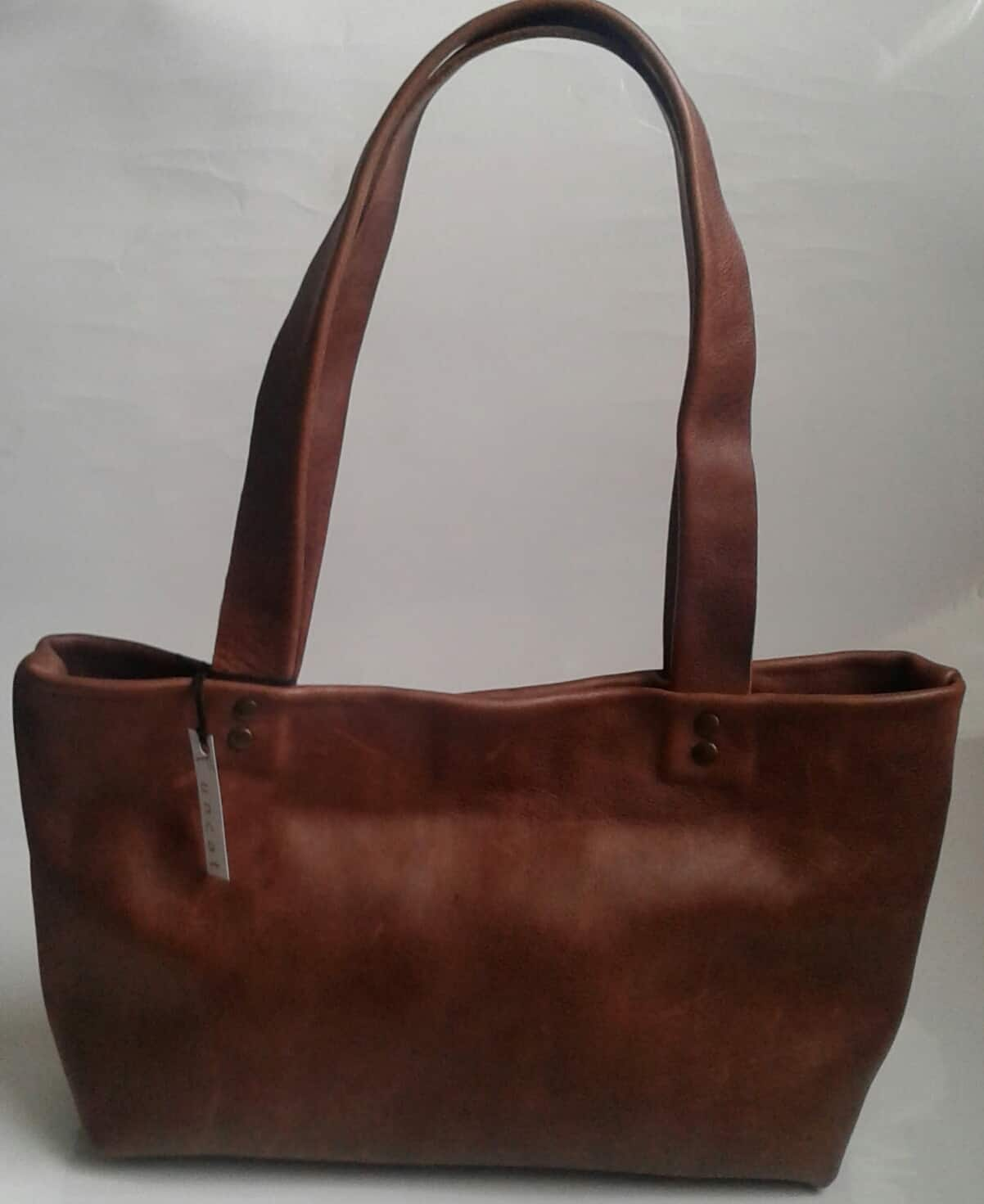Funcat Genuine Leather Brown Handbag