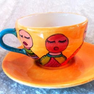 Hand painted African Tea Cup