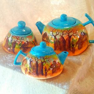Hand-painted Baobab Tea Set