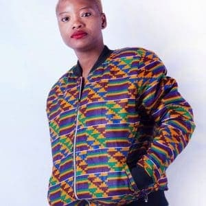Bomber jacket ACJ005 kente military