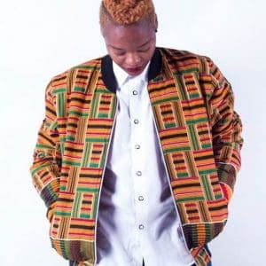 Bomber jacket ACJ004 Kente