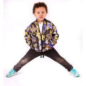 Kiddies tribal bomber jacket